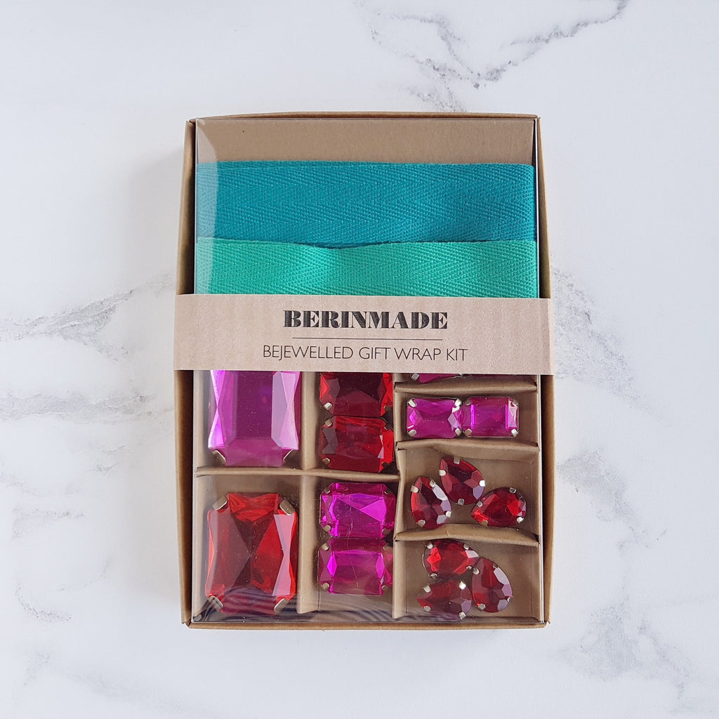 Berin Made Bejewelled Gift Wrap Kit Scarlet - HUEBOW