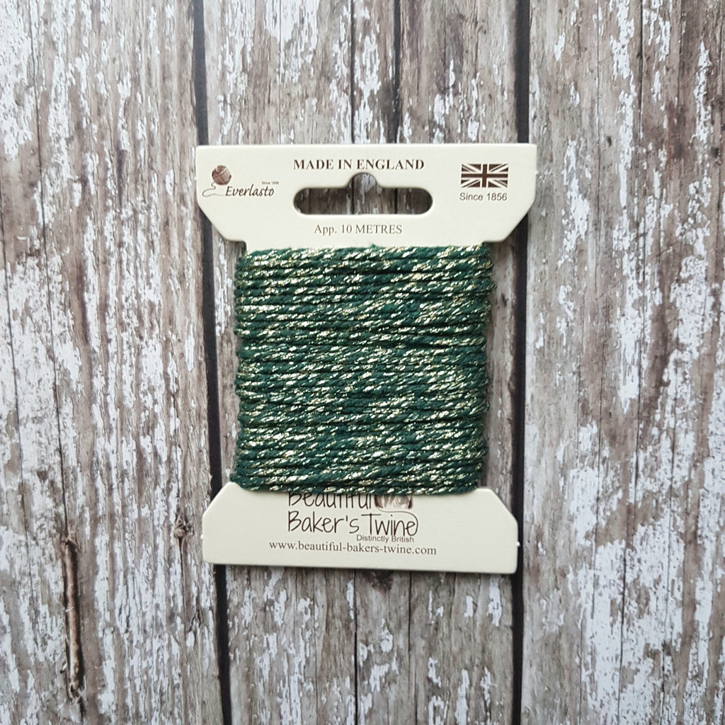 Baker's Twine 10m Green Sparkle - HUEBOW