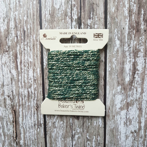 Baker's Twine 10m Green Sparkle