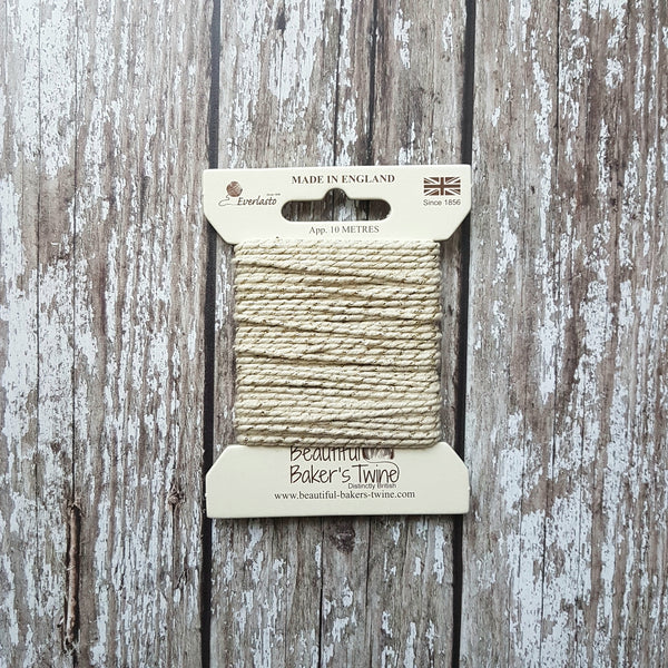 Baker's Twine 10m Ivory Sparkle - HUEBOW