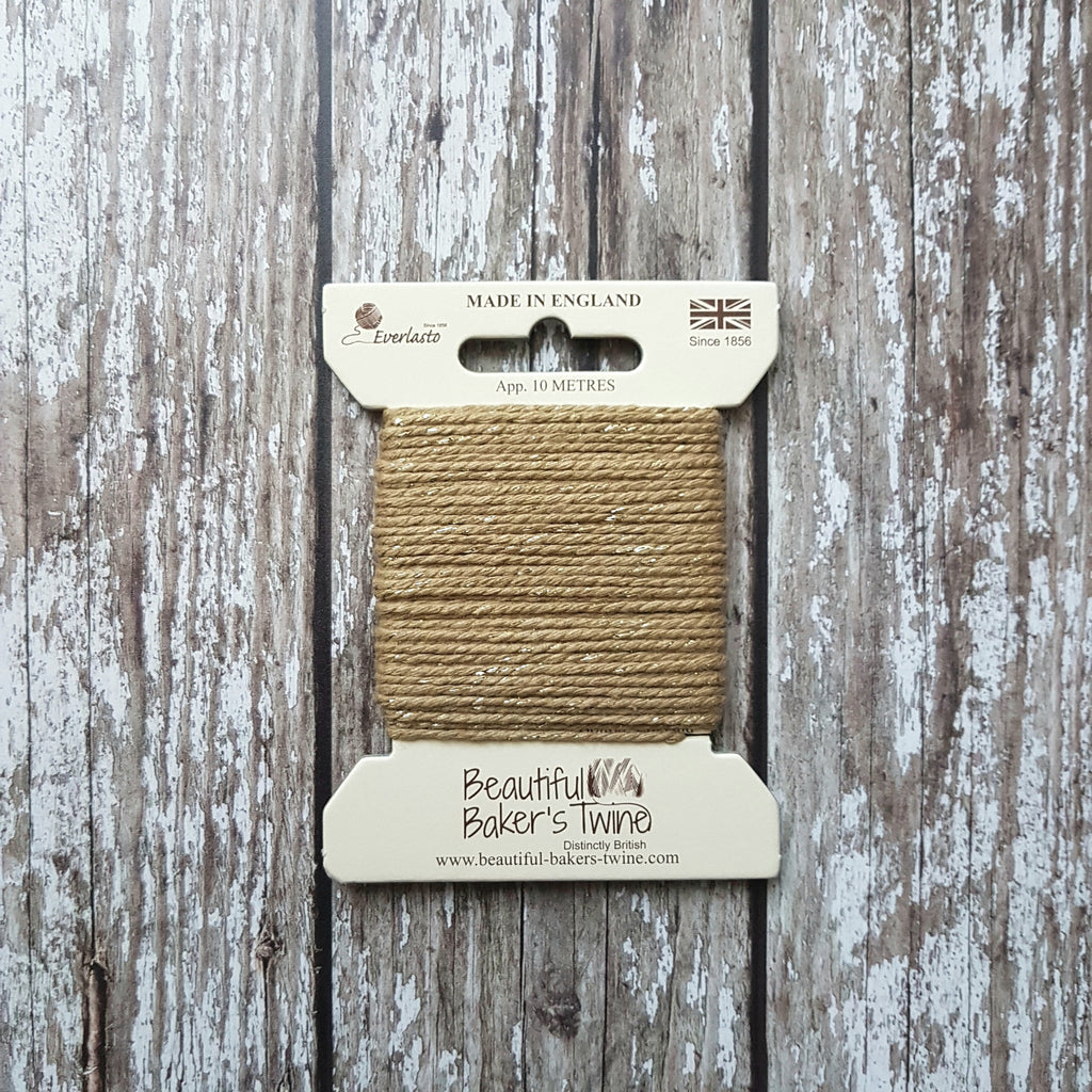 Baker's Twine 10m Gold Sparkle - HUEBOW