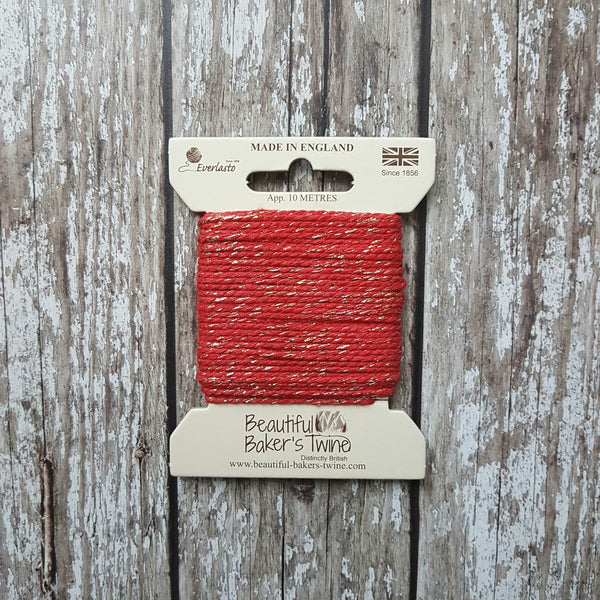 Baker's Twine 10m Red Sparkle