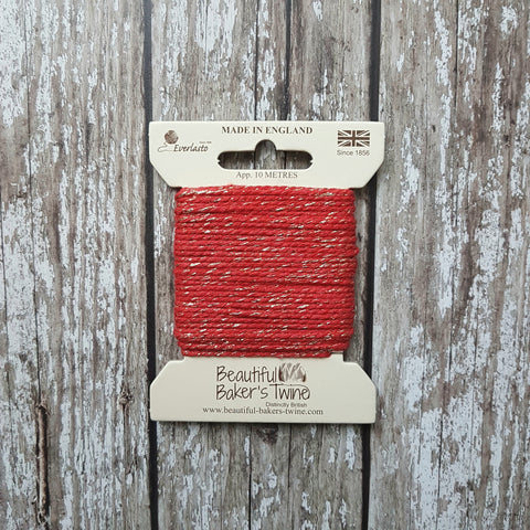 Everlasto Baker's Twine 10m Red Sparkle