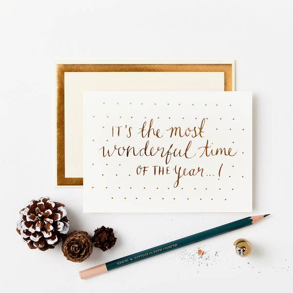 Katie Leamon Most Wonderful Time Christmas Card - HUEBOW