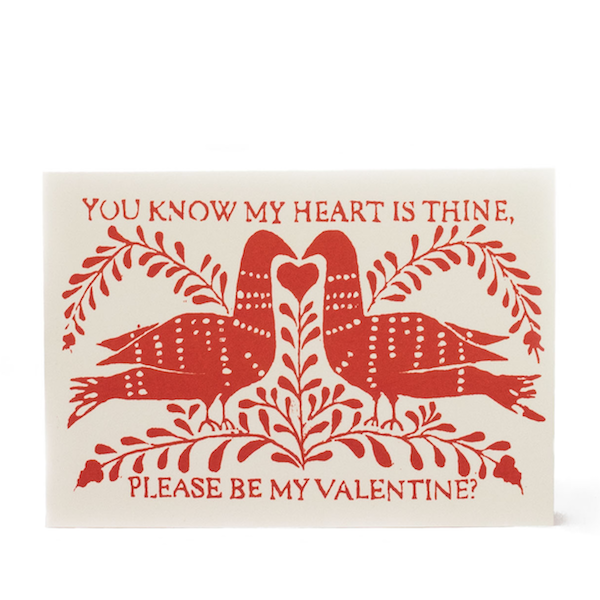 Cambridge Imprint Be My Valentine Card - HUEBOW
