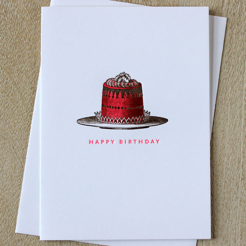 Sesame Letterpress Birthday Cake Card