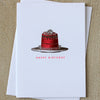 Sesame Letterpress Birthday Cake Card - HUEBOW