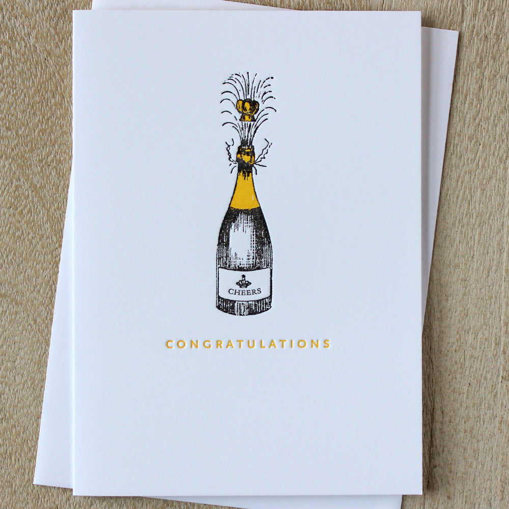 Sesame Letterpress Card 'Congratulations' - HUEBOW