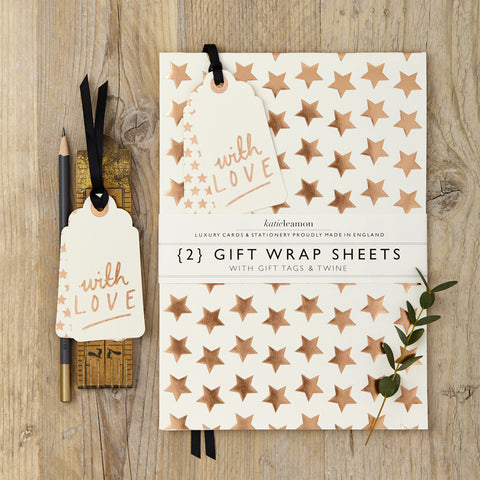 Katie Leamon Gold Star Wrap Set