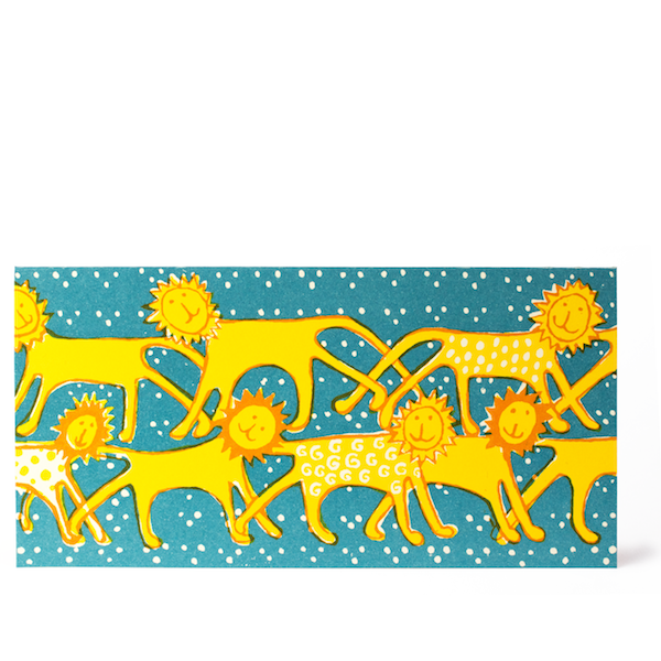 Cambridge Imprint Friendly Lions Card - HUEBOW
