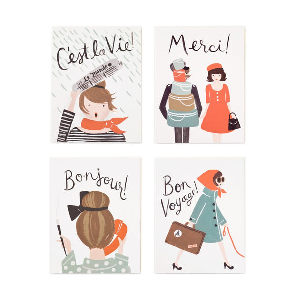 Rifle Paper Co. French Boxed Set Of 8 Cards - HUEBOW