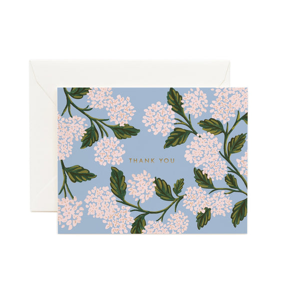 Rifle Paper Co. Hydrangea Thank You Card - HUEBOW