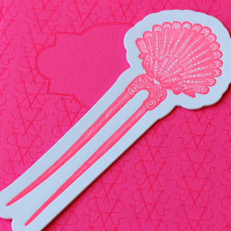 Sesame Letterpress Bookmark Hairpin - HUEBOW
