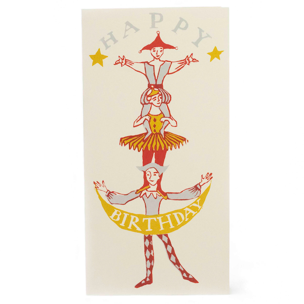 Cambridge Imprint Human Tower Birthday Card - HUEBOW