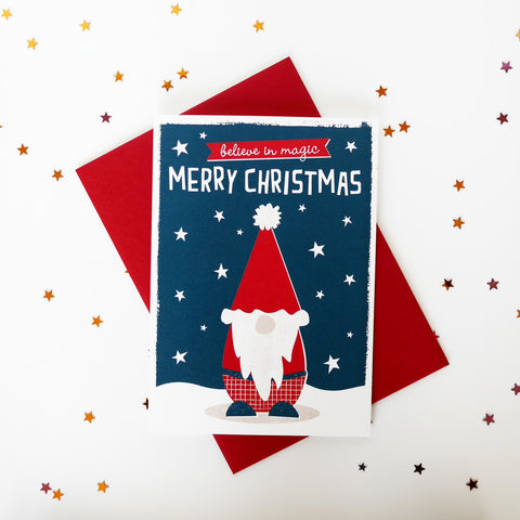 Zedig Design Believe In Magic Christmas Card