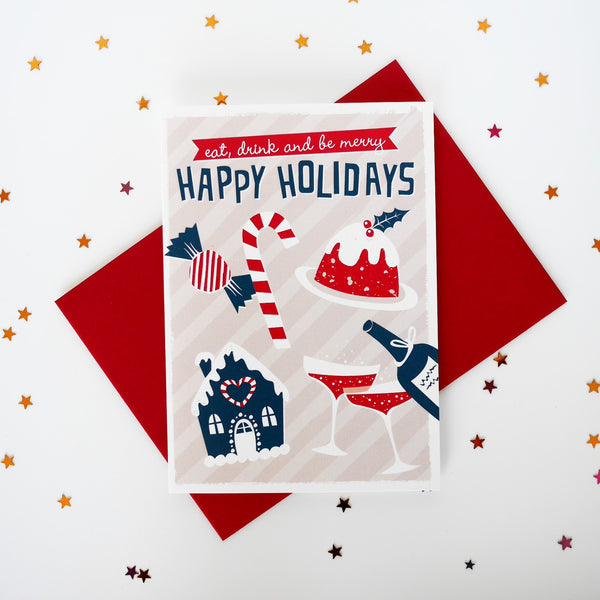 Zedig Design Happy Holiday Christmas Card - HUEBOW