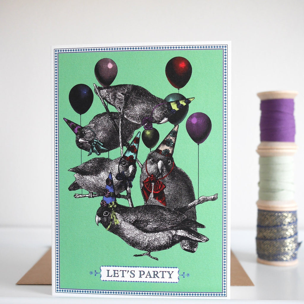 Chase and Wonder Party Birds Birthday Card - HUEBOW