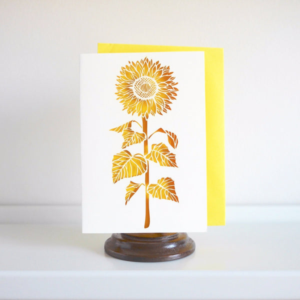 Chau Art Sunflower Card - HUEBOW