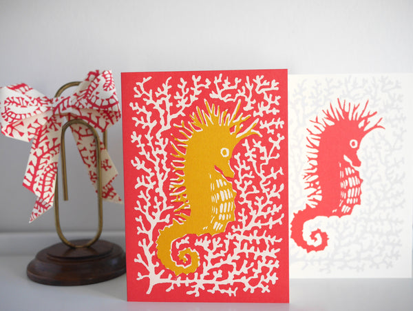 Cambridge Imprint Seahorse Card - HUEBOW