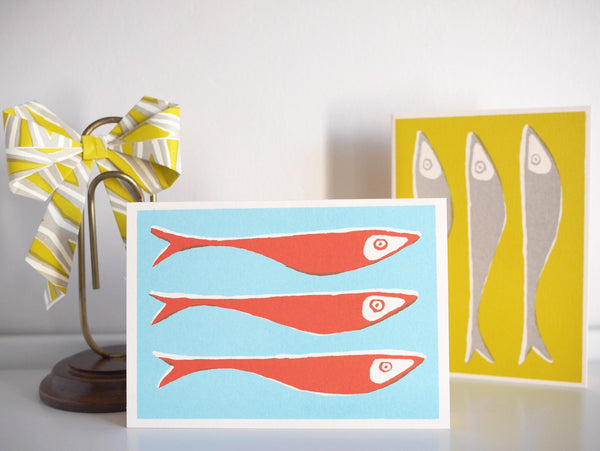 Cambridge Imprint Fish Card - HUEBOW