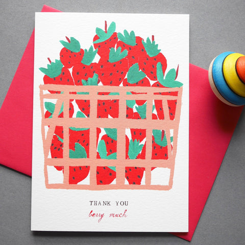 Mr. Boddington's Studio 'Baskets Of Berries' Thank You Card