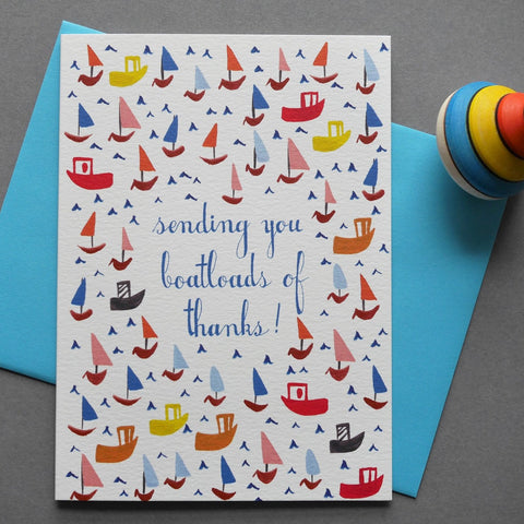 Mr. Boddington's Studio 'Boatloads' Thank You Card