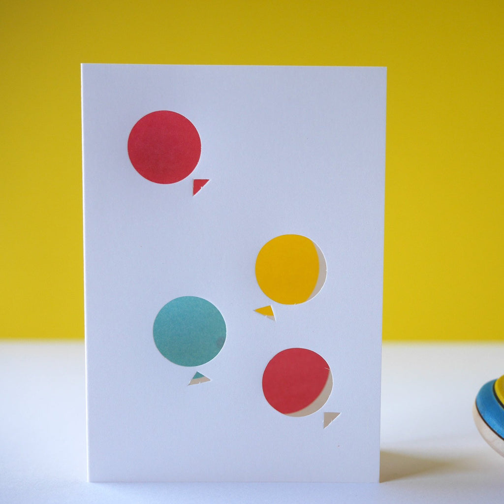 Cut & Make Balloons Card - HUEBOW