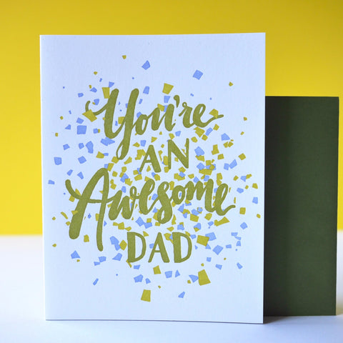 LETTERPRESS | AWESOME DAD
