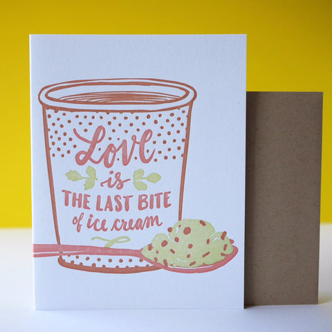 Smudge Ink Letterpress Last Bite Love Card