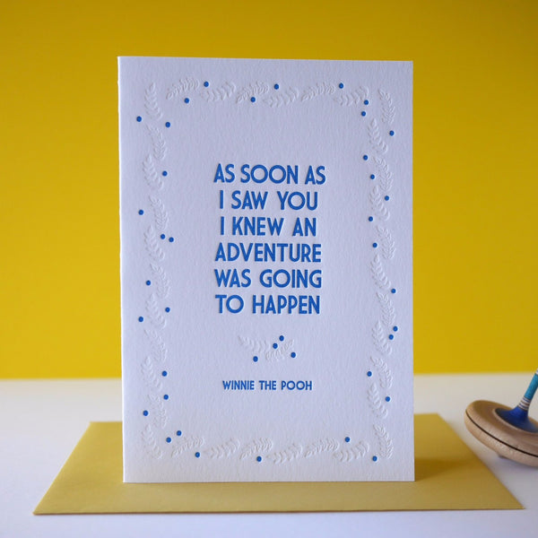 Inky and the Beast Letterpress Winnie the Pooh Adventure  (2 colours) - HUEBOW