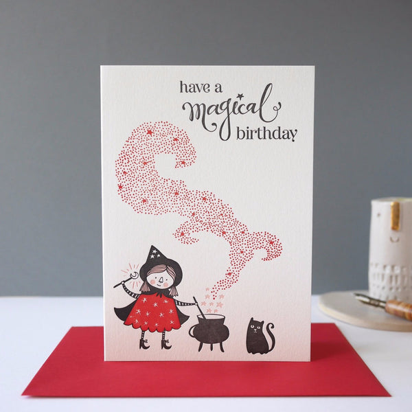 Imogen Owen Letterpress Card 'Magical Birthday' - HUEBOW