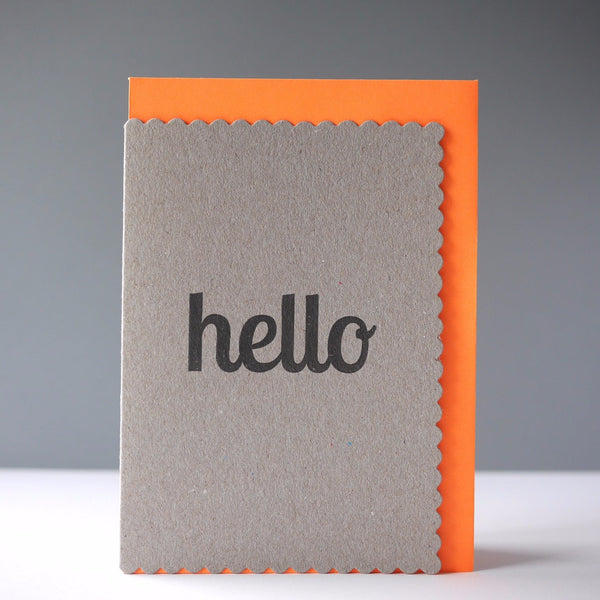 Katie Leamon Hello Card - HUEBOW