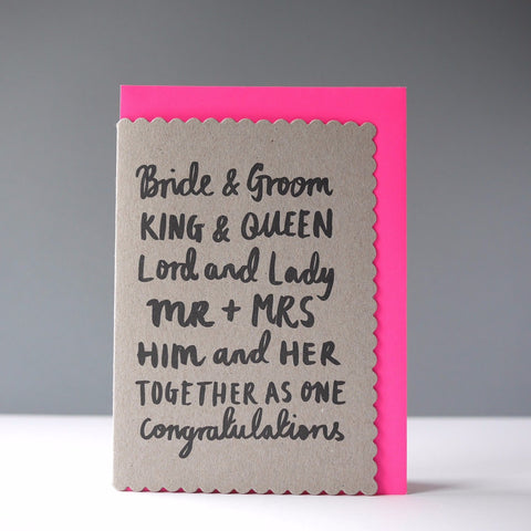 Katie Leamon Bride & Groom Card