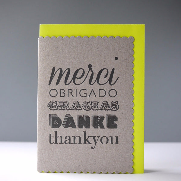 Katie Leamon Merci Card - HUEBOW