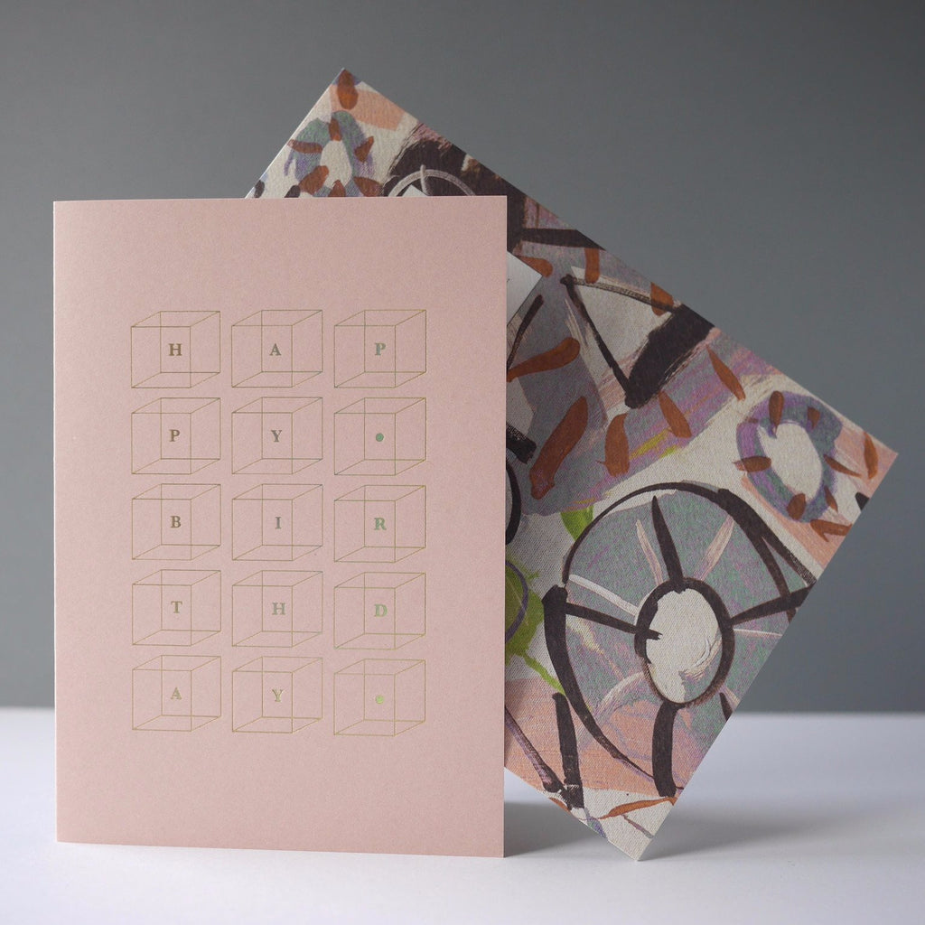 Katie Leamon Birthday Cubes Card - HUEBOW