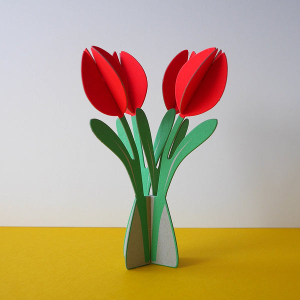 Cut & Make Tulips Card - HUEBOW