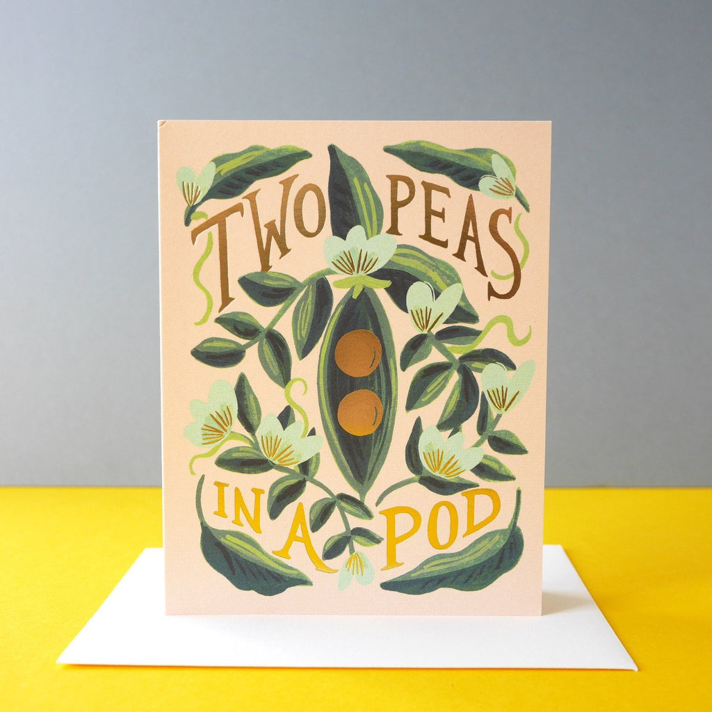 Rifle Paper Co. Two Peas In A Pod Card - HUEBOW