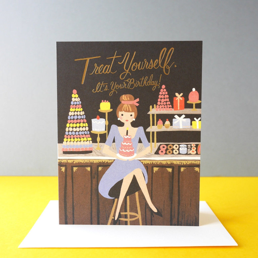 Rifle Paper Co. Treat Yourself Birthday Card - HUEBOW
