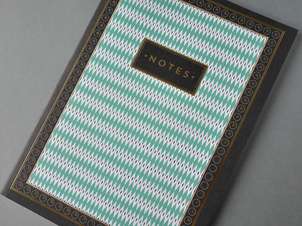 Chase and Wonder Art Deco Notebook - HUEBOW