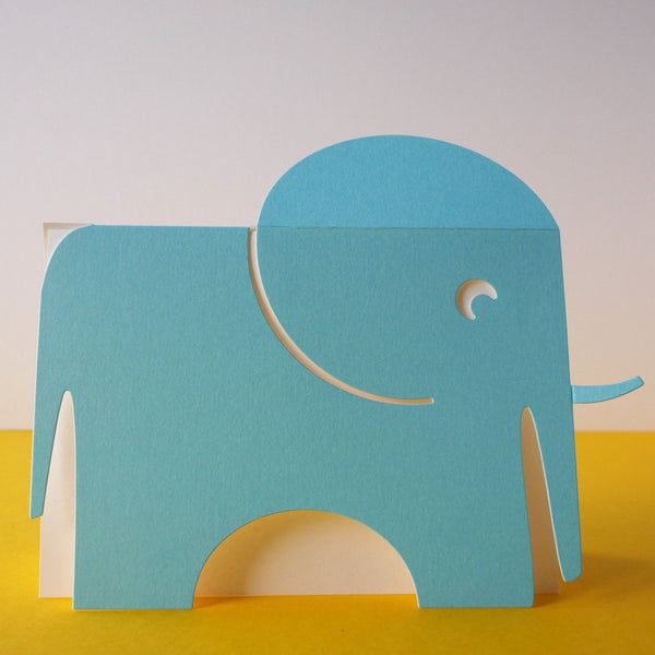 Cut & Make The Blue Elephant - HUEBOW
