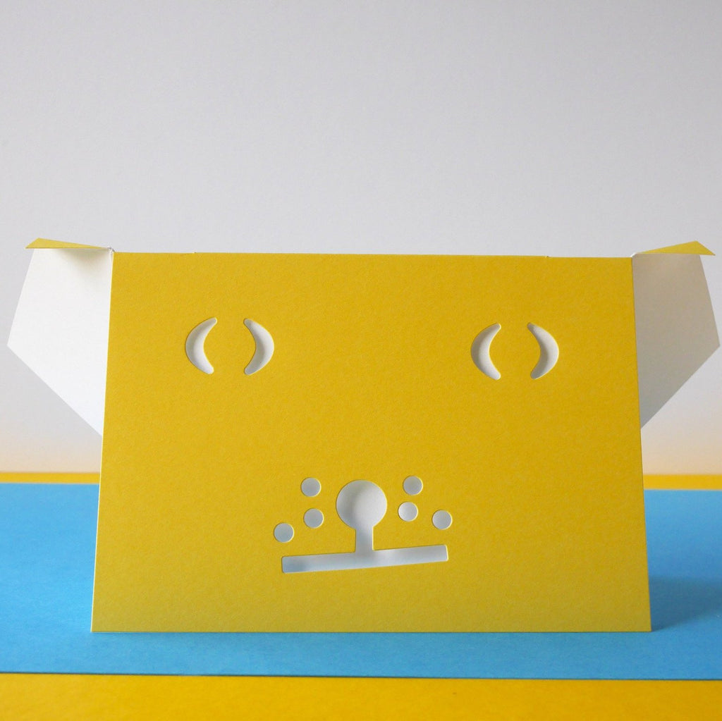 Cut & Make The Yellow Dog CardTHE YELLOW DOG - HUEBOW