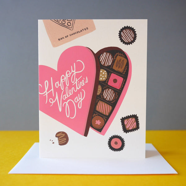Rifle Paper Co. Chocolates Box Valentine's Day Card - HUEBOW