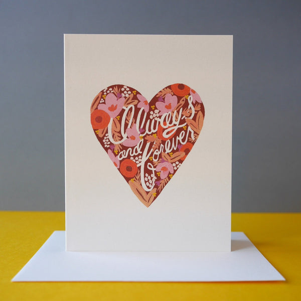 Rifle Paper Co. Always And Forever Heart Card - HUEBOW