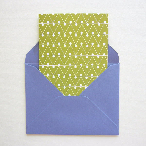 Ola Studio Dash Print Card Leaf Green - HUEBOW