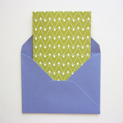 Ola Studio Dash Print Card Leaf Green