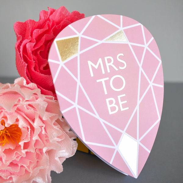Berin Made Mrs To Be Gem Card