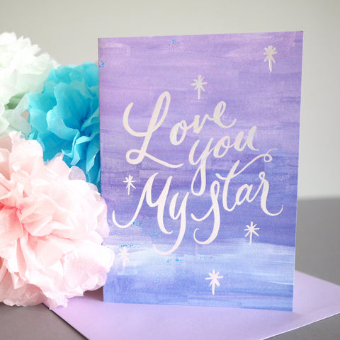 Berin Made 'Love You My Star' Card