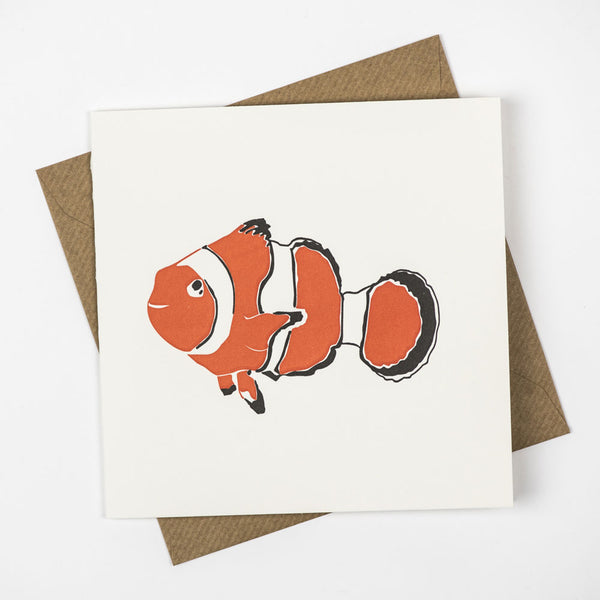 Penguin Letterpress Card 'Clownfish' - HUEBOW