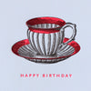 Sesame Letterpress Teacup Birthday Card - HUEBOW