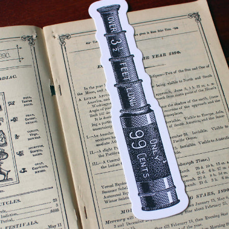Sesame Letterpress Bookmark Telescope